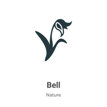 Bluebell Vector Icon On White ...