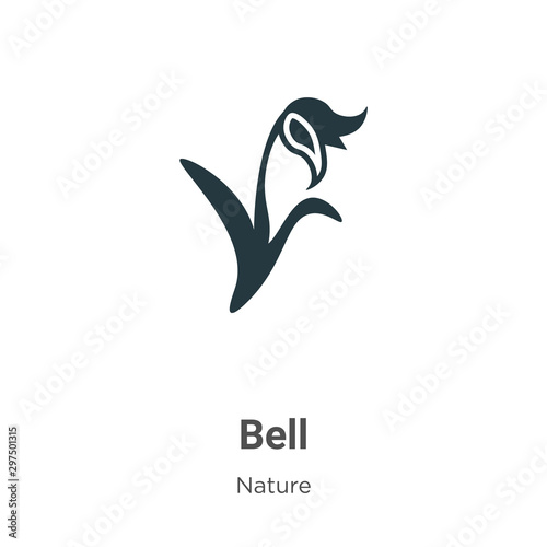 Photo Bluebell vector icon on white background