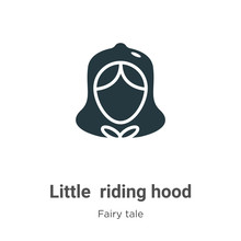 Little Red Riding Hood Vector Icon On White Background. Flat Vector Little Red Riding Hood Icon Symbol Sign From Modern Fairy Tale Collection For Mobile Concept And Web Apps Design.
