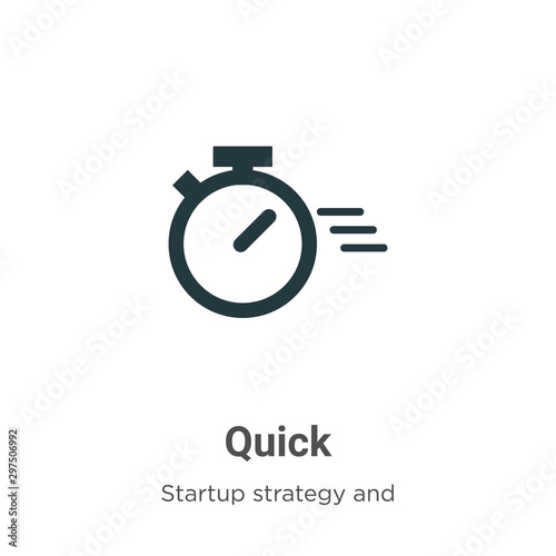 Quick vector icon on white background. Flat vector quick icon symbol sign from modern startup strategy and success collection for mobile concept and web apps design.