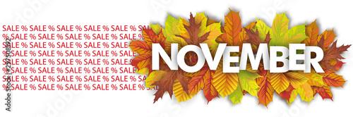 Obraz November Sale Autumn Foliage Header - fototapety do salonu