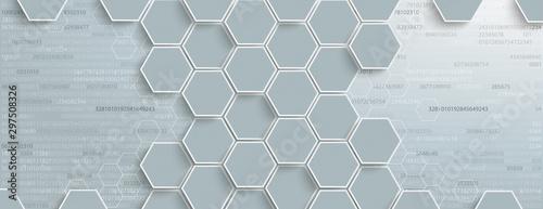 Fotografia Digitaler Hintergrund mit Hexagonen