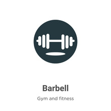 Barbell Vector Icon On White Background. Flat Vector Barbell Icon Symbol Sign From Modern Gym And Fitness Collection For Mobile Concept And Web Apps Design.