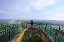 Sky Walk At Wat Pha Tak Sue In Nongkhai ,Thailand