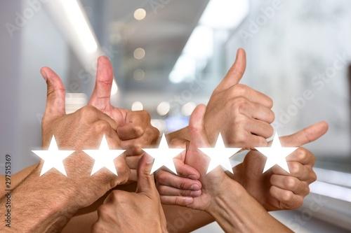 Fototapeta  Great boss service company customer excellence job