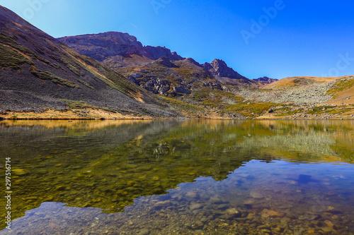 lake and mountain landscape #297516714