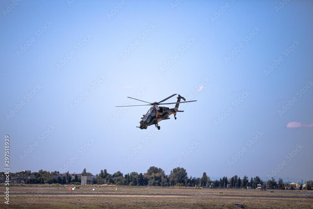 Fototapeta Aircraft Show at Teknofest 2019, Soloturk, Atak Helikopter