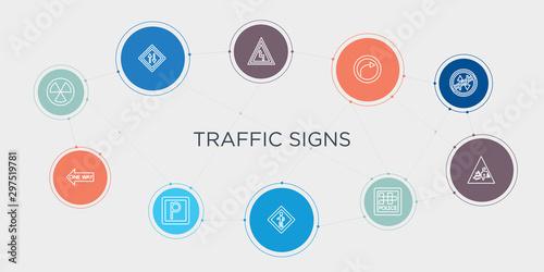Fotografía  traffic signs 10 stroke points round design