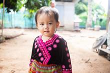 Portrait Of Adorable Hmong Baby Girl