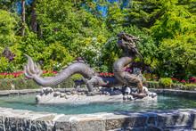 Dragon Statue At Butchart Gard...