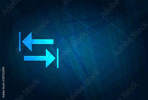 Fotografia Transfer arrow icon futuristic digital abstract blue background
