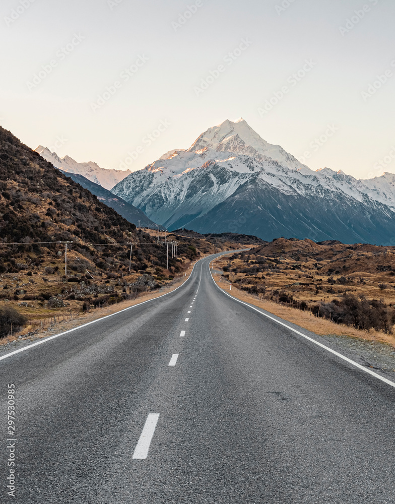 Fototapeta Mountain at end of Road