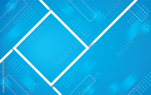 Photo  abstract blue color square background vector illustration EPS10