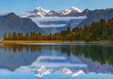 Scenic View Of Lake Matheson N...