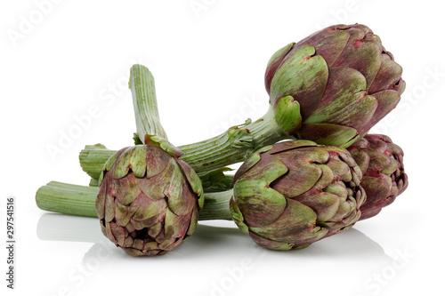 Photo Fresh artichoke isolated on white background