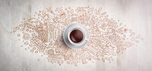 Coffee Concept On Wooden Backg...