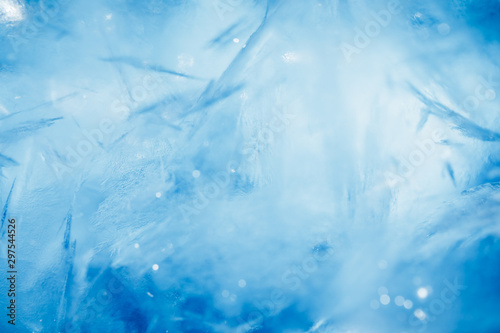 Fototapety, obrazy: blue frozen texture of ice