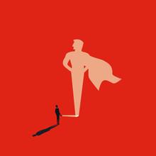 Business Superhero Vector Conc...