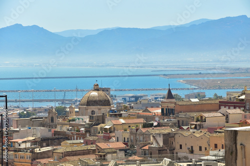 Fototapeta Panorama miasta Cagliari Sardynia obraz