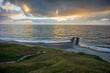 canvas print picture Bovbjerg - Steilküste in Dänemark