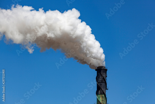 smoke stack billowing smoke Fototapete
