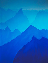 Layers Of Blue Mountains Are P...