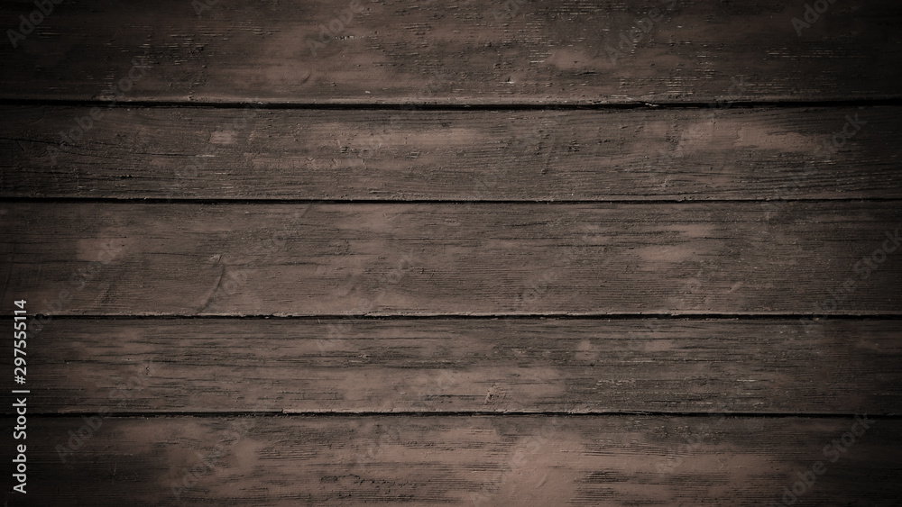 Fototapety, obrazy: old brown rustic dark wooden texture - wood background