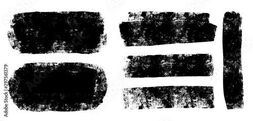 Fototapeta Brush strokes templates,  vector grunge paintbrush set obraz