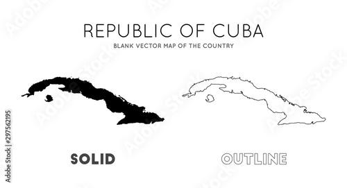 Cuba map Canvas Print