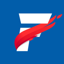 F Letter Logo With Fast Speed ...