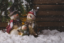 Winter Holiday Scene Of A Snow...