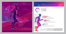 Runner Marathon Design Blank_Square Booklet Set
