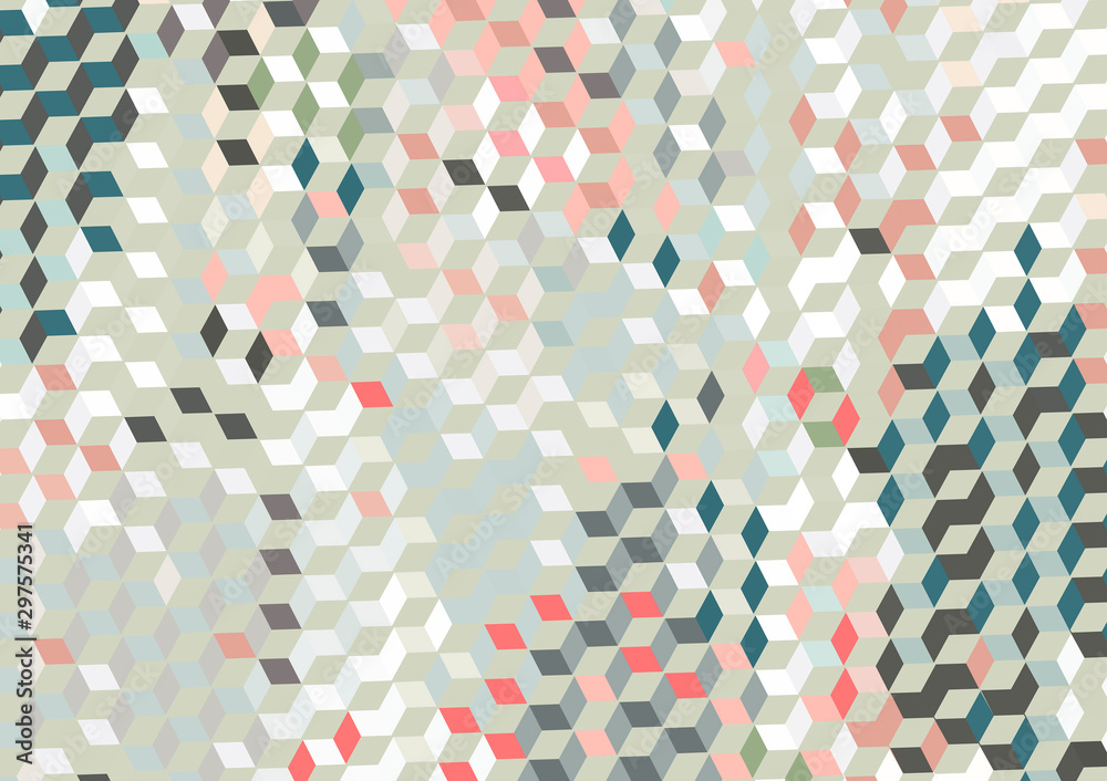 Fototapety, obrazy: Vector, geometric abstract background texture design, bright poster with triangles and lines, spots, circles and shapes.