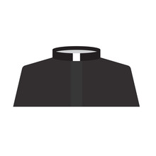 Catholic Priest Dress Icon- Vector Illustration