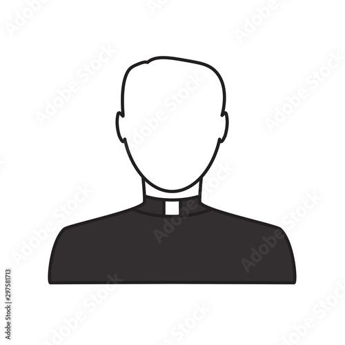 catholic priest avatar icon- vector illustration Fototapeta