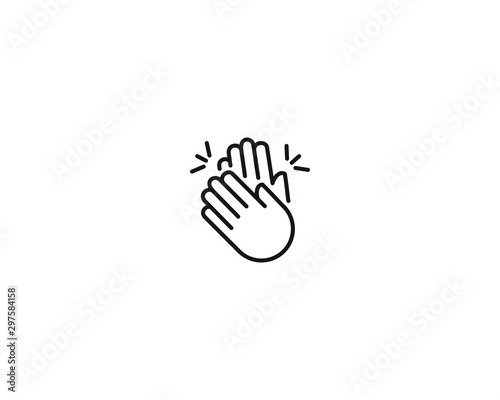 Photo Clapping hands vector isolated emoji