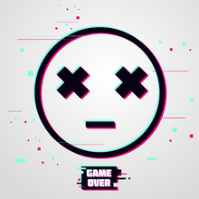 Game Over Vector Background. E...