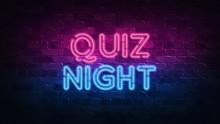 Quiz Night Neon Sign. Purple A...