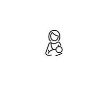 Breast-Feeding Icon. Vector Icon