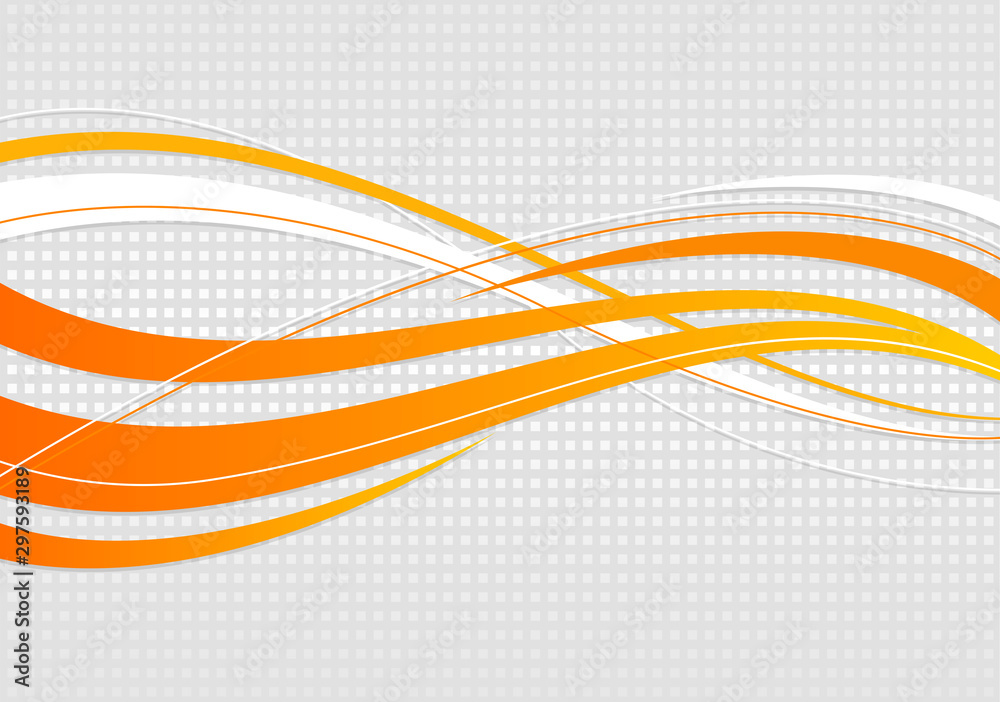 Fototapeta abstract wavy background. Wavy lines on a gray dot background