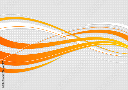 abstract wavy background. Wavy lines on a gray dot background #297593189