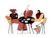 Illustration Of Women Gossipin...