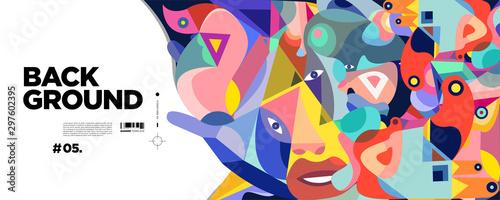 Vászonkép Abstract liquid shape