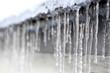 canvas print picture - Eiszapfen im Winter