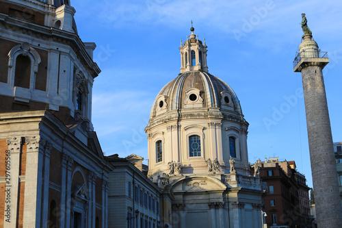 Valokuva Santa Maria di Loreto in Rome, Italy.