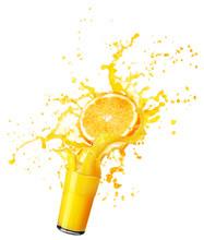 Orange Juice Splash Isolated