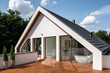 Leinwanddruck Bild - Elegant wooden home terrace