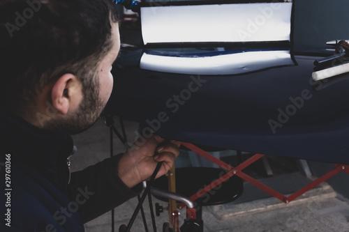 Fototapeta  car dent repair equipment