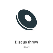 Discus Throw Vector Icon On White Background. Flat Vector Discus Throw Icon Symbol Sign From Modern Sport Collection For Mobile Concept And Web Apps Design.