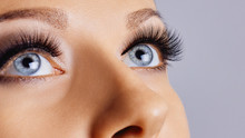 Woman Eyes With Long Eyelashes...